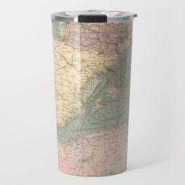 Vintage Map of The Eastern Mediterranean Ports (1905) Travel Mug
