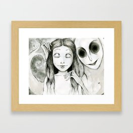 April and the Phantom Framed Art Print