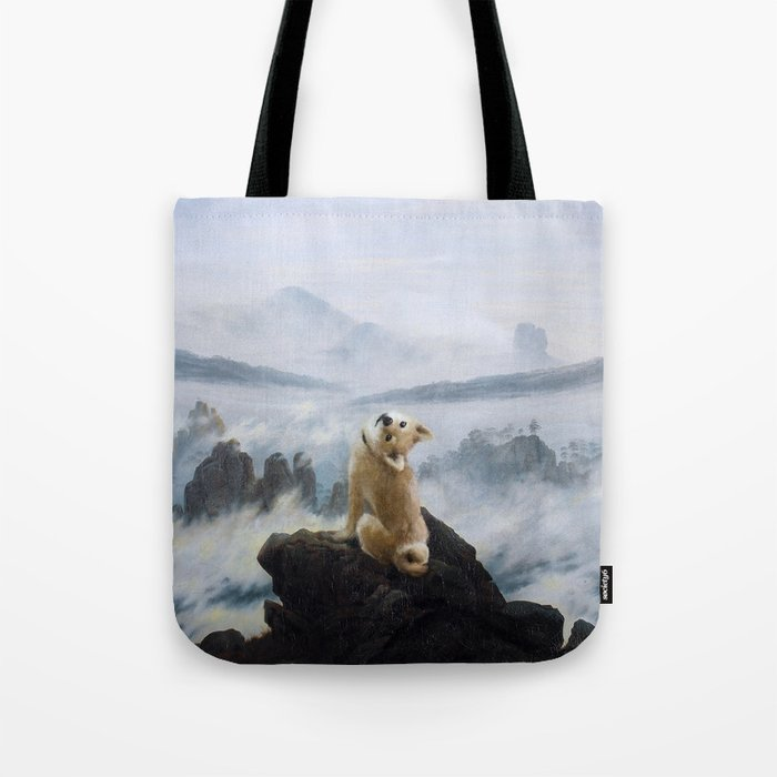 The Wanderer Above the Sea of Doge Tote Bag