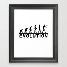 Zombie evolution Framed Art Print