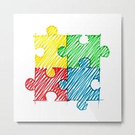 autism symbol Metal Print