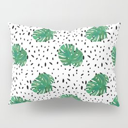 Monstera Dot Spots Pillow Sham