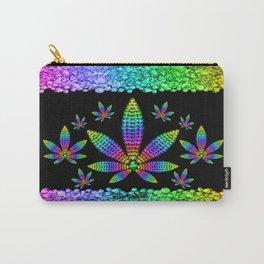 Rainbow Gems Cannabis Leaf Carry-All Pouch