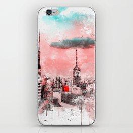 Sao Paulo - WaterColor 003D iPhone Skin