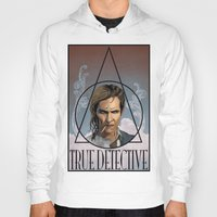 true detective Hoodies featuring True Detective by Pop Vulture