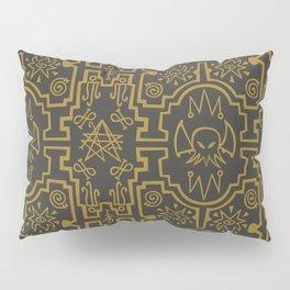 Lovecraftian pattern dark Pillow Sham