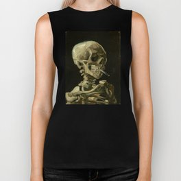 Vincent van Gogh - Skull of a Skeleton with Burning Cigarette Biker Tank