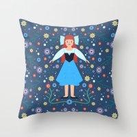 ariel Throw Pillows featuring Ariel by Carly Watts