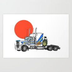 No Trouble in Little Japan Art Print