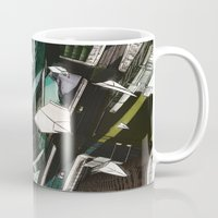 planes Mugs featuring Paper Planes by Tom Alex Buch