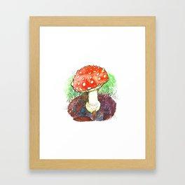 The Perfect Mushroom Framed Art Print