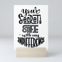 Your Secret is Safe with my Indifference (Critical Role) Mini Art Print