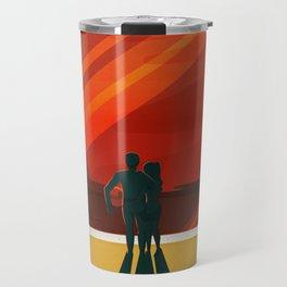 SpaceX Mars tourism poster / DP Travel Mug