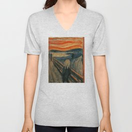 The Scream - Edvard Munch Unisex V-Neck