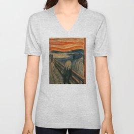 The Scream - Edvard Munch Unisex V-Neck