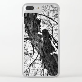 Bark and snow Clear iPhone Case