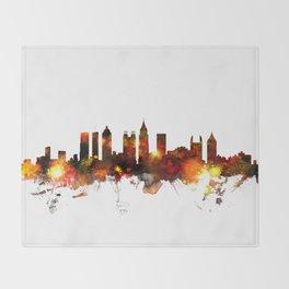 Atlanta Georgia Skyline Throw Blanket