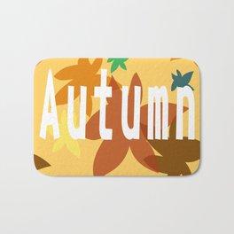 Autumn scene Bath Mat
