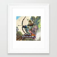 super smash bros Framed Art Prints featuring Super Smash Bros by custompro