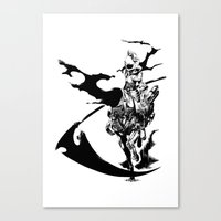 durarara Canvas Prints featuring Celty & Shooter by Prince Of Darkness