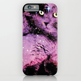 Celestial Cat - The British Shorthair & The Pelican Nebula iPhone Case