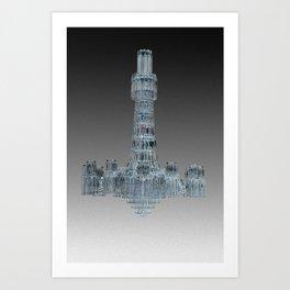 waterfall/light Art Print
