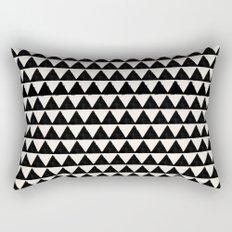 BLACK AND CREAM TRIANGLES Rectangular Pillow