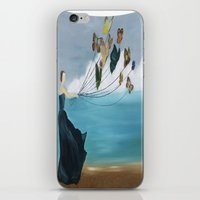 baloon iPhone & iPod Skins featuring Butterfly Baloon by ArtSchool