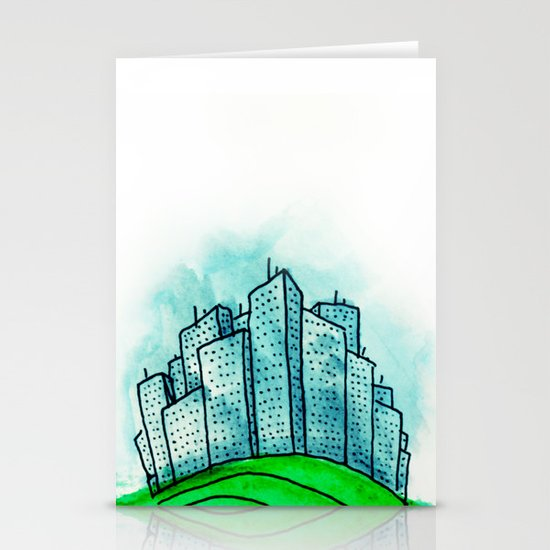 City on a Hill Stationery Cards