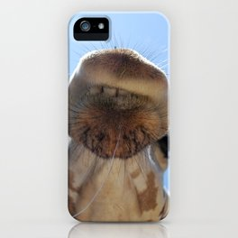 Giraffe with drool iPhone Case
