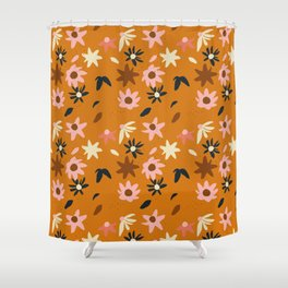 Fall flowers pattern Shower Curtain