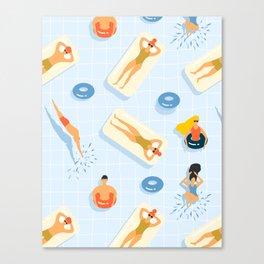 Abstract Summer Fun Pattern Canvas Print