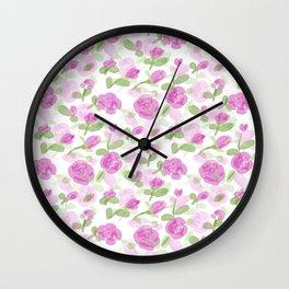 Rose Petals Pattern Wall Clock