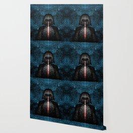 Darth Vader with Lightsaber in Galaxy Wallpaper