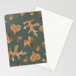 Autumn Elements Pattern (Copper&Sage) Stationery Cards