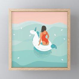 Brown Eyed Girl Framed Mini Art Print