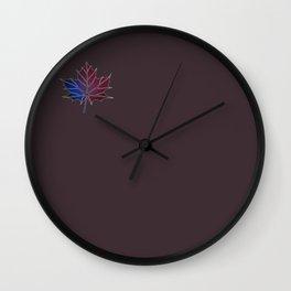 Purple Fall Wall Clock