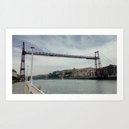The Bizkaia suspension transporter bridge (Puente de Vizcaya) in Getxo, Spain Art Print