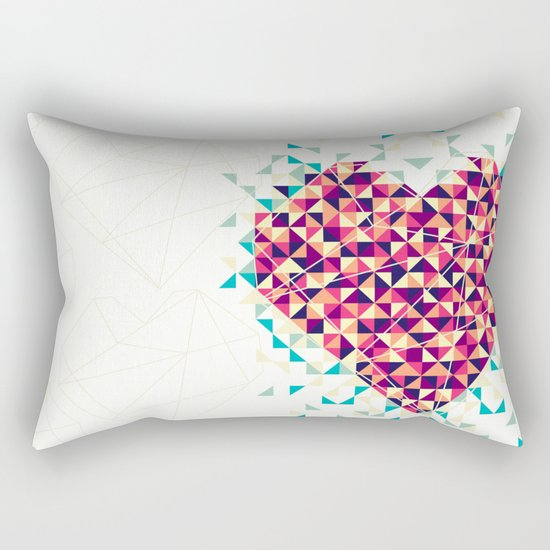 A heart is made of bits and pieces Rectangular Pillow