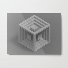 Cube 13 Metal Print