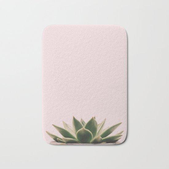 Succulent pink Bath Mat