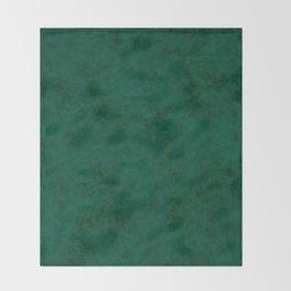 Green suede Throw Blanket