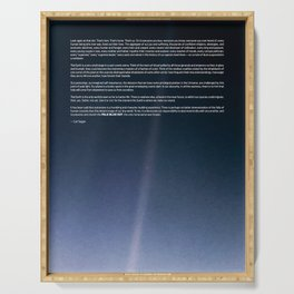Pale Blue Dot — Voyager 1 (2020 rev.), quote Serving Tray
