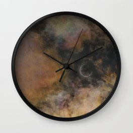 Solar Eclipse and Clouds Wall Clock