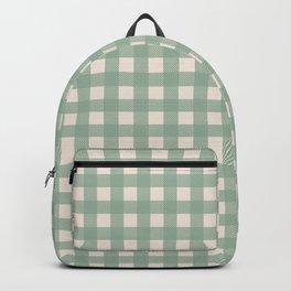 Buffalo Checks Plaid in Sage Green on Cream Backpack