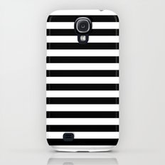Modern Black White Stripes Monochrome Pattern Slim Case Galaxy S4