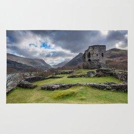Dolbadarn Castle Snowdonia Rug