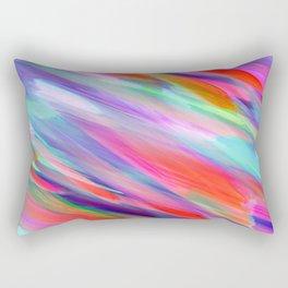 Colorful digital art splashing G399 Rectangular Pillow