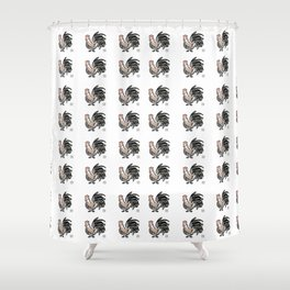Fire Rooster 2 Shower Curtain