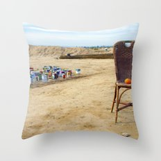 Come and sit  Throw Pillow